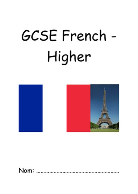 aqa gcse french higher 0198365837 aqa french new spec gcse pupil booklet higher by jneedham1701 teaching resources tes