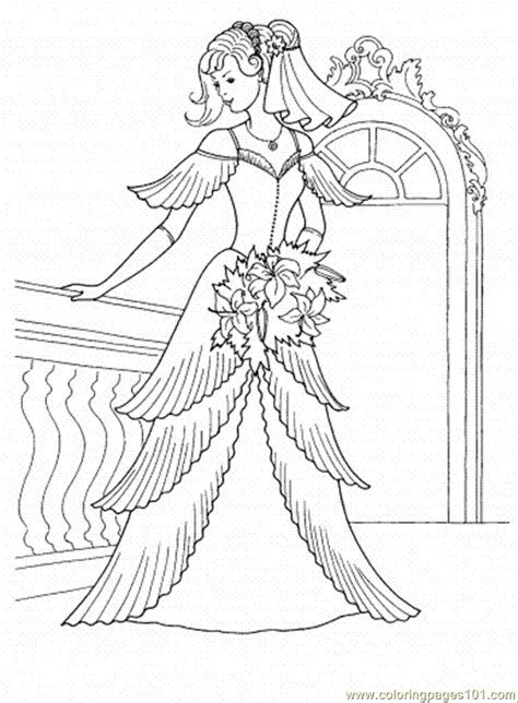 coloring pages princess dresses free wedding coloring pages coloring home