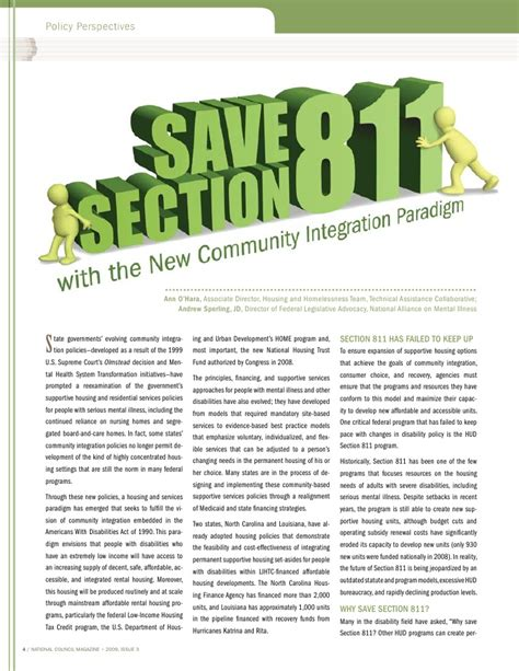 section 811 program national council magazine 2009 issue 3