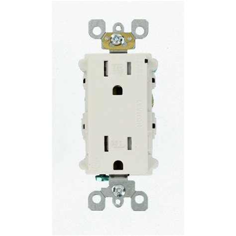 leviton receptacle leviton 15 ter resistant decora duplex receptacle surge suppressor device white r00