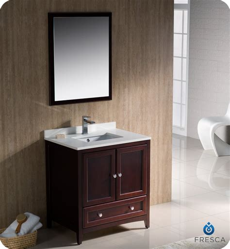 Traditional Bathroom Vanity Cabinets 30 Quot Fresca Oxford Fvn2030mh Traditional Bathroom Vanity Mahogany Bathroom Vanities