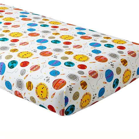 space crib bedding organic deep space crib fitted sheet the land of nod