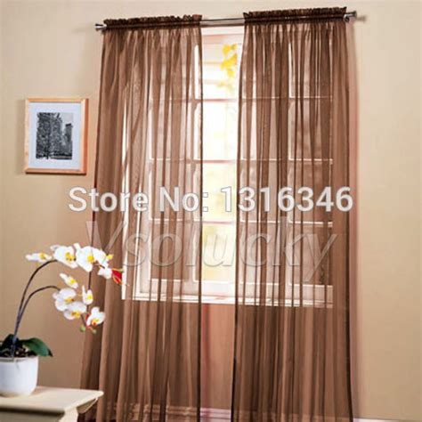 chocolate sheer curtains compare prices on chocolate brown scarf online shopping