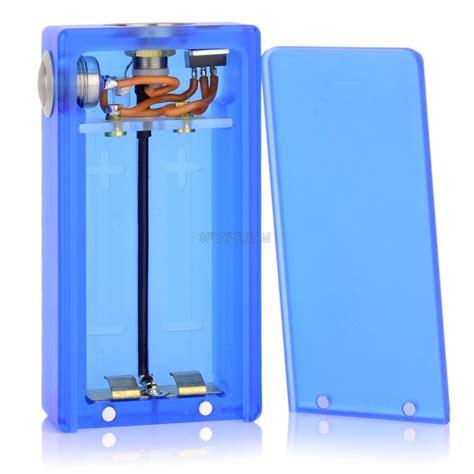 box mod with led lights abs v2 blue 18650 mechanical box mod with led light