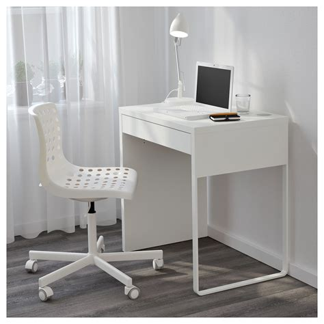 white desk small micke desk white 73x50 cm ikea