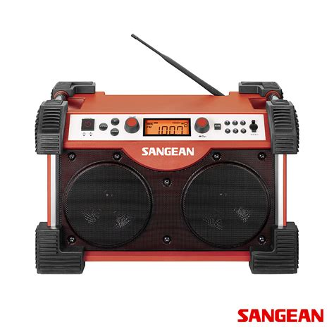rugged stereo fatbox fm am aux in ultra rugged radio sangean modernoutlet