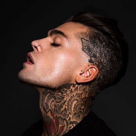 tattoo neck images sephen james s neck tattoo dotwork best tattoo ideas gallery