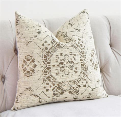 Ivory Pillow by Ivory Pillow Creme Beige Medallion Pillow Cover Moroccan