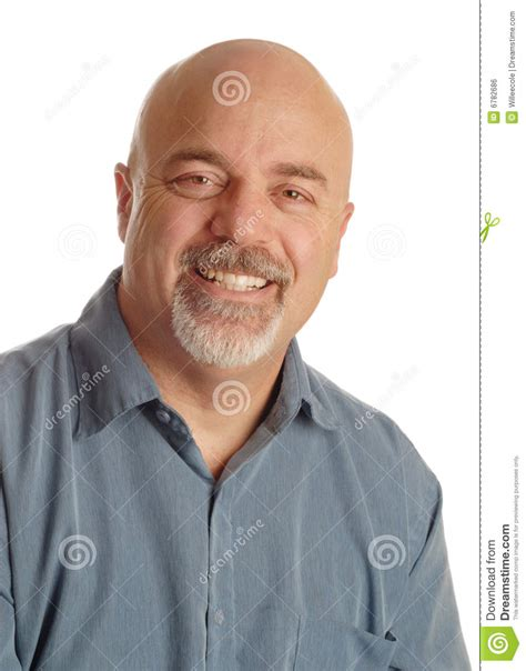 what percentage of middle age men shave their pubic hair bald man with smile royalty free stock image image 6782686
