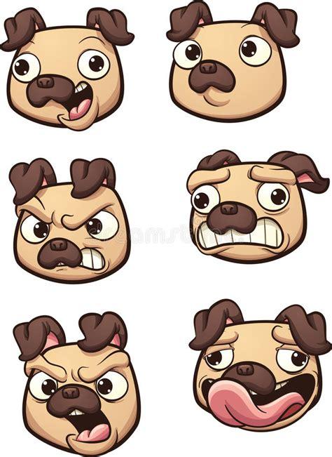 Bulldog Clip Joyko 6 145 Each pug stock vector illustration of scared gradient