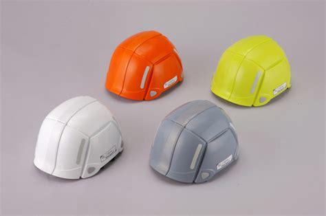 helmet design principles bloom helmet unfolds for speedy emergency evacuation