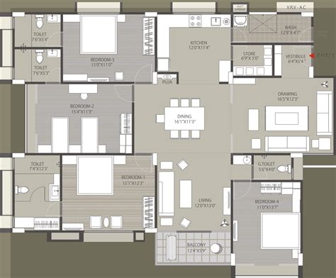 solitaire floor plans 3000 sq ft 4 bhk 4t apartment for sale in kamnath sepal
