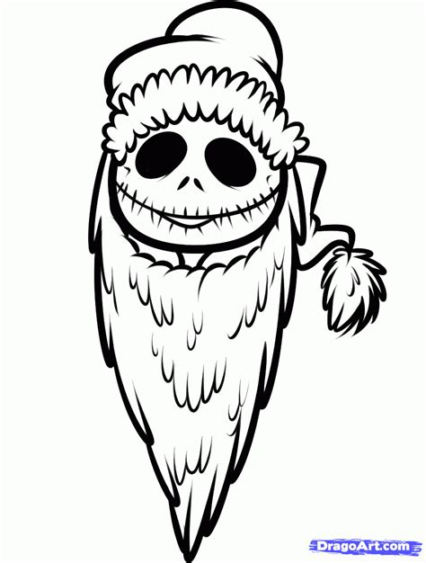 skeleton king coloring page how to draw christmas jack skellington step by step
