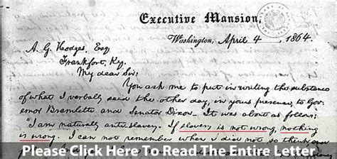 abraham lincoln letter to principal conflict of interest election issue