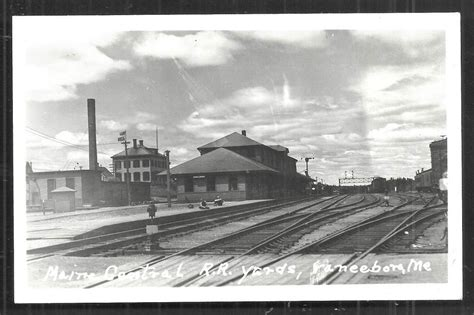 vanceboro rppc maine central railroad railway station 40s