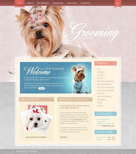 pet sitting website template web design templates
