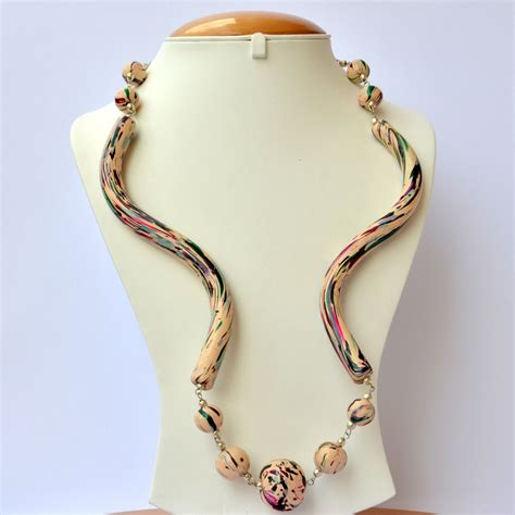Handmade Necklace For - handmade necklace with multicolor