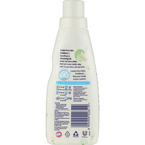 comfort fabric softener comfort fabric softener pure white 400ml woolworths