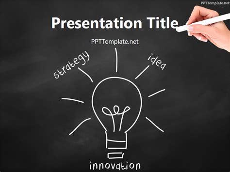 black innovation free teamwork bulb chalk hand ppt template