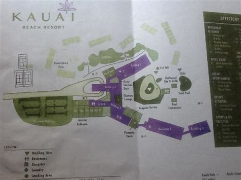 kauai resort map property map picture of kauai resort lihue