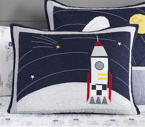 astronaut bedding colton astronaut quilted bedding pottery barn kids