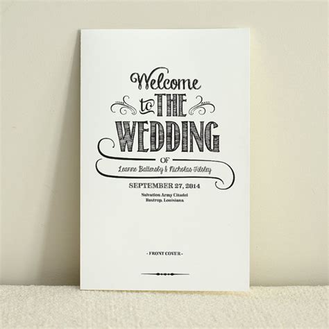 layout order of service wedding diy wedding program order of service handlettered rustic