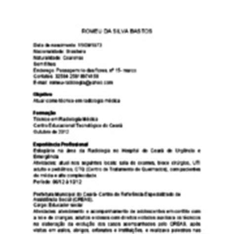 Modelo Curriculum Vitae Tecnico Mecanica Automotriz curr 237 culo profissional da radiologia exemplo de