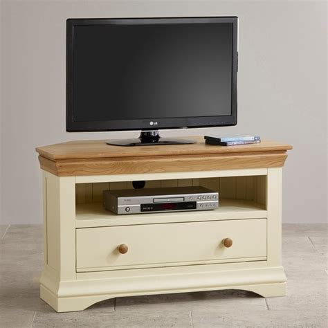 Painted Tv Cabinet by Country Cottage Oak Corner Tv Cabinet Painted