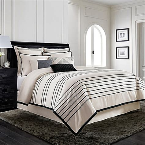 wamsutta comforter sets wamsutta 174 manhattan jacquard comforter set in creme bed