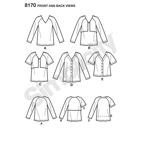 pattern simple form pattern 8170 misses easy to sew tunics and tops