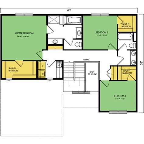 yosemite floor plan 3 beds 2 5 baths 2147 sq ft