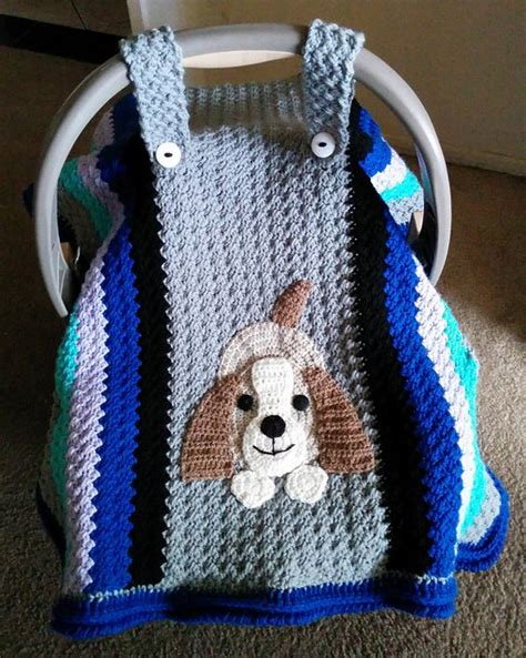 seat pattern crochet baby car seat cover with pattern