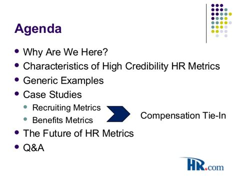 Of Mba Credibility by Buckley Hr Metrics 2011 Dec 12