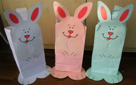 Easter Paper Bag Crafts - easter crafts with paper bags