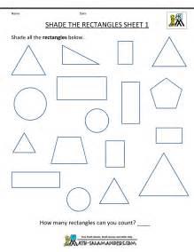 shapes math worksheets for kindergarten free math