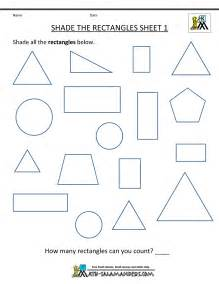 Geometry math worksheets shade the rectangles 1