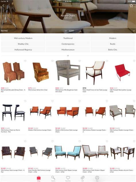 the best iphone apps for home decoration apppicker chairish home decor and vintage furniture to buy and