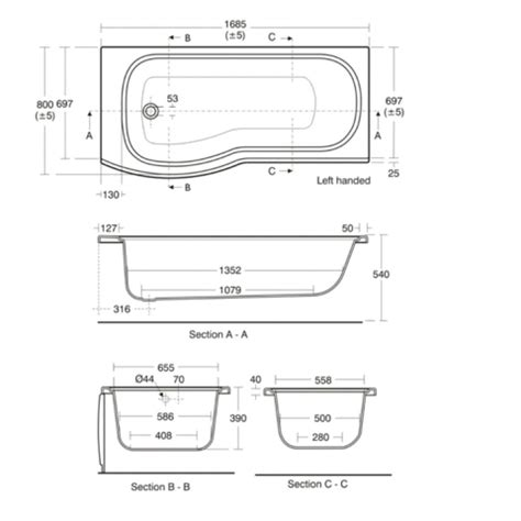 bathtub section dwg ideal standard alto shower bath uk bathrooms