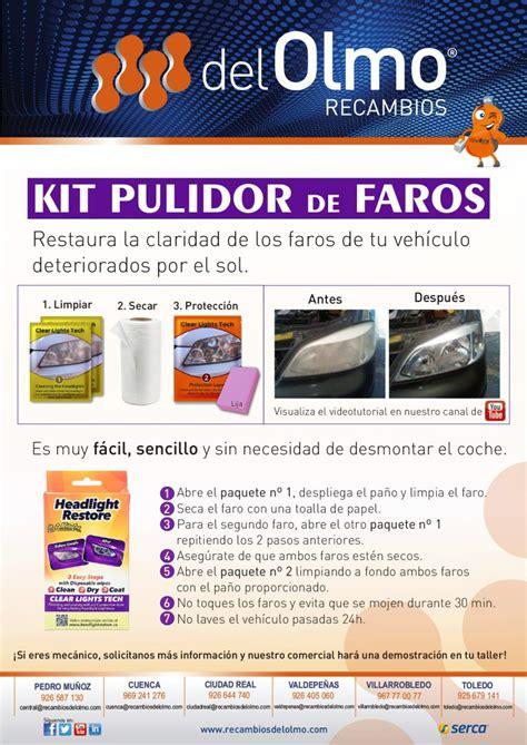 kit para pulir faros nuevo producto kit pulidor de faros recambios olmo