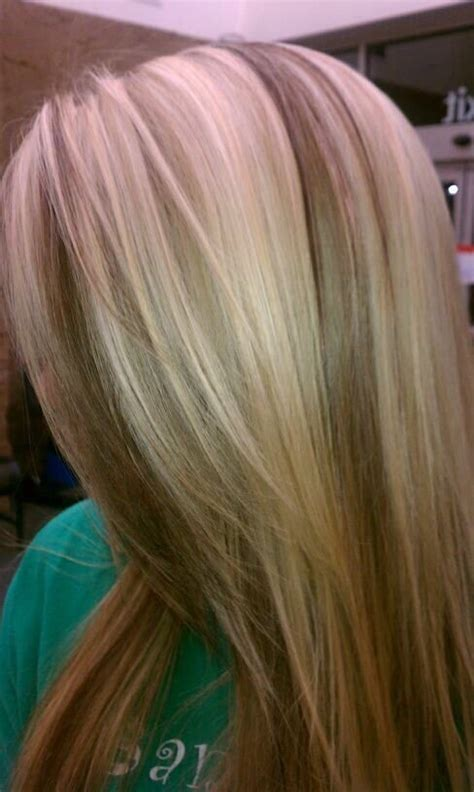 chunky high and lowlights highlights pictures delaney s hair blonde with chocolate brown chunky
