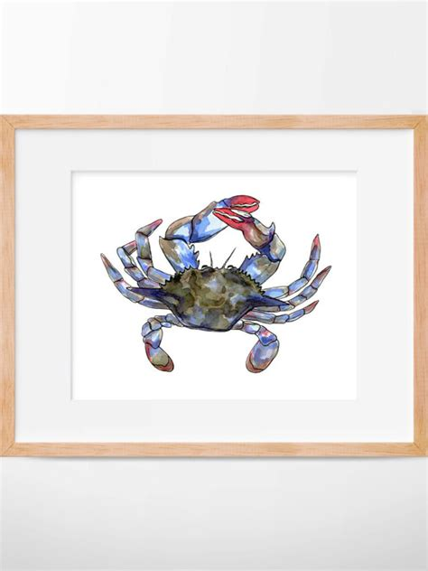 crab decorations for home maryland crab print blue crab costal wall art costal wall