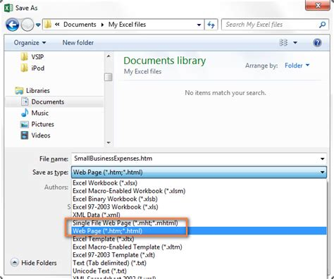 html format for web page how to convert excel tables to html