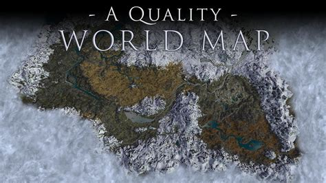 a quality world map a quality world map and solstheim map with roads