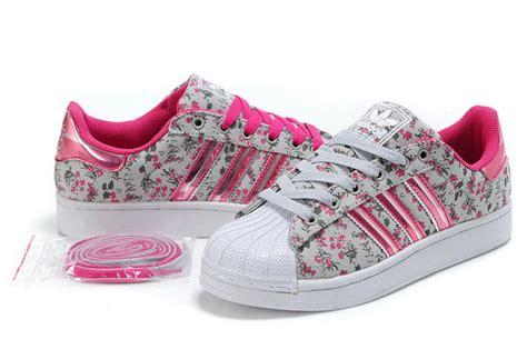 womens adidas superstar ii  pink floral  zealand