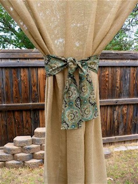burlap outdoor curtains i love the diy burlap outdoor curtains and the pergola