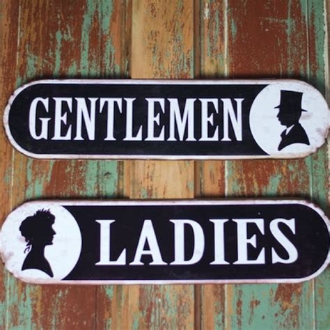 ladies and gents bathroom signs metal bathroom signs vintage bathroom signs ladies