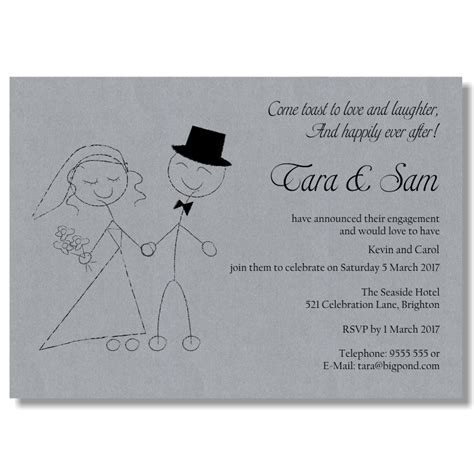 Engagement Invitation Template budget wedding invitations template engagement