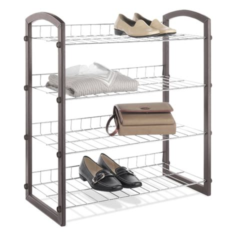 Free Standing Closet Shelving by Free Standing Closet Shelves 4 Tier In Shoe Racks