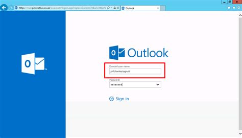 Office 365 Outlook Login Problem Owa 2016 Change Login From Domain Username To Username
