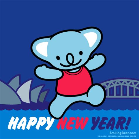 happy  year   sydney australia smiling bear